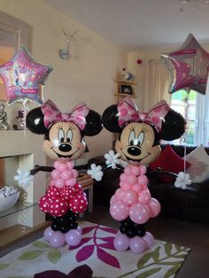 Happy 18th Birthday Minnie Mouse balloon models x