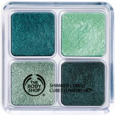 MINI EYESHADOW: The Body Shop Shimmer Cubes Palette Cost: $22 Description: This palette has a wonderful color selection! It comes in three variations; this one being 22, it also comes in 21, 20, and 06. The eyeshadow is very pigmented and works great!