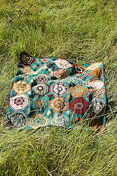 Crochet Moorish Mosaic Afghan from Crochet Garden