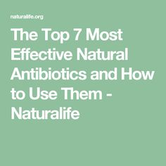 The Top 7 Most Effective Natural Antibiotics and How to Use Them - Naturalife