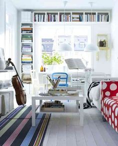 George Clarke's Amazing Spaces: 12 Design Ideas For Small Living Rooms... Invest in Good Storage; Ikea Klippan living room