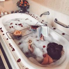 The occupation in this photo is relaxing in the bath, this means alot to me as it allows me to relax after a long day and de-stress which is good for my mental health and well being.