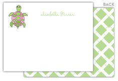 Sea Turtle Flat Note Cards