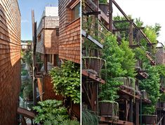 "An awesome apartment building in Turin, Italy, has given a whole new meaning to the word ""treehouse."" This apartment building was designed by architect Luciano Pia and has about 150 trees sprouting out from various parts of the building. Building Facade, Green Building, Building Plans, Green Architecture, Architecture Design, Habitat Collectif, Apartment Complexes, Urban Setting, Cool Apartments"