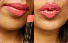 Lakme Gloss Addict Desert Rose Lipstick Review, Swatch, LOTD