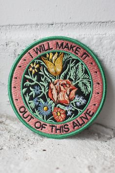 Alive iron-on patch - stay at home club
