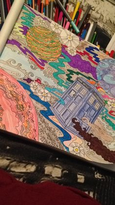 My Colouring In The Adult Doctor Who Book Is So Pretty