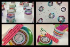 plastic cup ornaments | Kids handmade ornaments. Draw on plastic cups ... | Holidays - Christ ...