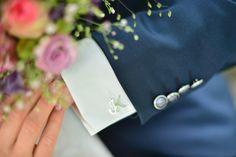 personalisierte Manschettenknöpfe mit Initialen au Silber von moijdesign