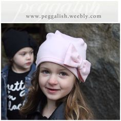 BLUSH slouch beanie by Peggalish. Made with super soft bamboo and cotton french terry.  Available at www.peggalish.weebly.com