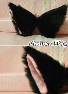 Black clip in cat ears
