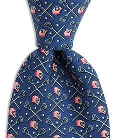 Lacrosse Tie by Vineyard Vines in Navy