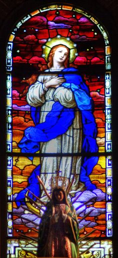 St Mary's Catholic Church Stained Glass Wilmington by davidmcb.deviantart.com