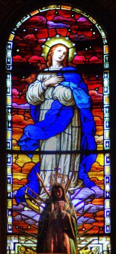 St Mary's Catholic Church Stained Glass Wilmington by davidmcb.deviantart.com