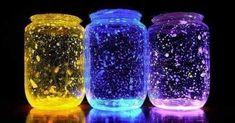 Como fazer um frasco luminoso para decorar o seu quarto - Veja a Receita: