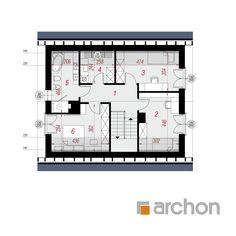 Projekt domu Dom w malinówkach 11 - ARCHON+ Architectural House Plans, Micro House, Cottage Plan, Dream House Plans, Design Case, Modern House Design, Traditional House, Planer, Floor Plans