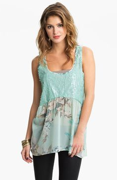 #Nordstrom                #love                     #Love #Squared #Sequin #Chiffon #Tank #(Juniors) #Nordstrom                   Love Squared Sequin & Chiffon Tank (Juniors) | Nordstrom                                                http://www.seapai.com/product.aspx?PID=413885