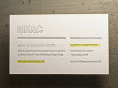 Studio on Fire - MK - letterpress business cards with custom edge color