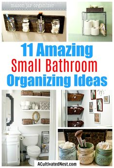 11 Small Bathroom Organization Ideas- The best way to deal with a small bathroom is to keep it well organized. If you want to organize a small bathroom in your home, then you need to see these 11 fantastic small bathroom organizing ideas! Bathroom Storage Solutions, Small Bathroom Organization, Bathroom Hacks, Diy Storage, Organization Hacks, Organizing Ideas, Bathroom Ideas, How To Organize A Bathroom, Bathroom Designs