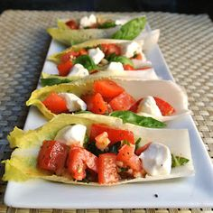 Mom, What's For Dinner?: Endive Caprese Boats