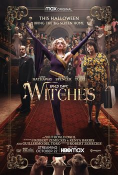 The Witch Poster, The Witch Movie, Witch Film, Stanley Tucci, Jane The Virgin, Anne Hathaway, Las Brujas De Roald Dahl, Teaser, Roald Dahl Books
