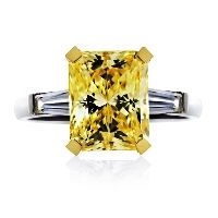 Magnificent  Radiant Cut in Fancy Yellow