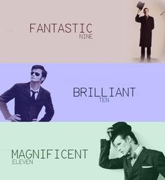Ninth, Tenth and Eleventh Doctor