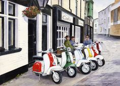 """007CG027 - Life in the Fast Lane - 16"""" x 12"""" Print Only £12.99 9.5"""" x 6.5"""" Mounted to 14"""" x 11"""" - £12.99"""