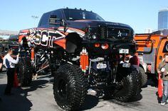 Big ford truck.... One day I will have a lifted truck like this to drive around :)