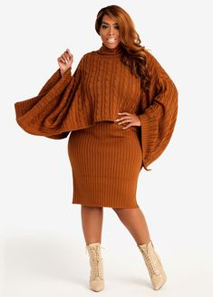 Plus Size Sweater Dress, Plus Size Fall Outfit, Plus Size Fall Fashion, Sweater Dress Outfit, Plus Size Sweaters, Plus Size Outfits, Sweater Outfits, Cream Leggings, Rust Color Dress
