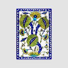 Iznik Interpretation • Quartz Tile • 40 cm x 30 cm  Original Iznik : Deep dish with softly foliated rim, c. 1545 • Calouste Gulbenkian Foundation Museum, Lisbon • 35,5 cm #art #artist #tile #iznik #handcrafted #ceramics #handmade #homedecor #artsy #craft #instaart #instagood #gallery #creative #photooftheday #instaartist #artoftheday #etsy #flowers #decoration #luxuryhomes #handmadeceramics #glazed #unique #create #bestoftheday #interiordesign #quartz #wallart