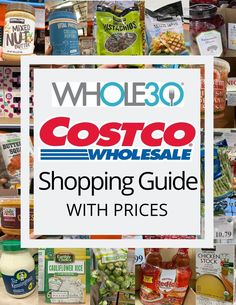 The best Costco Grocery Guide with video & the price of every item! All the compliant things to add to your Costco shopping list. Costco Shopping List, Grocery Lists, Paleo Whole 30, Whole 30 Recipes, Healthy Freezer Meals, Freezer Cooking, Cooking Tips, Freezer Recipes, Whole 30 Costco