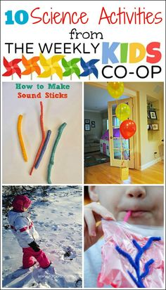 Mess For Less: 10 Science Activities for Kids from The Kids Weekly Co-Op