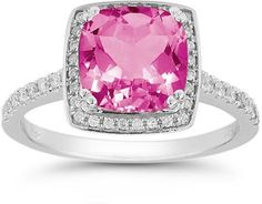 Diamond Rings : White Gold Diamond and Peridot Square Ring. - Buy Me Diamond Halo Diamond, Diamond Rings, Diamond Jewelry, Peridot Jewelry, Topaz Jewelry, Latest Jewellery Trends, Jewelry Trends, Pink Topaz, Square Rings