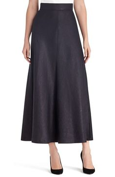 Lafayette 148 New York 'Gwenyth - Lavish Linen' Maxi Skirt