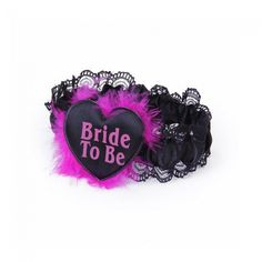 Black Bride to Be Hens Party Garter