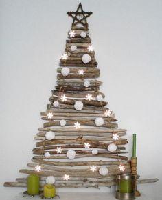Resultado de imagen para decoracion con troncos navidad