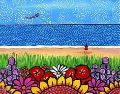 Nova Scotia Kite Girl by AliceinParis on Etsy, $20.00