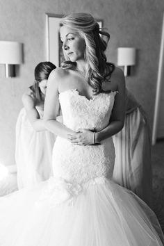 This mermaid. Love. Enzoani. Photography: Perry Vaile - www.perryvaile.com  Read More: http://www.stylemepretty.com/north-carolina-weddings/raleigh/2014/01/16/downtown-raleigh-wedding-at-the-stockroom-at-230/