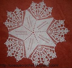 Doily star with diagram