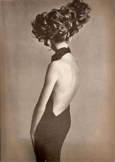 Irene Galitzine's 1965 black bias-cut backless asymmetrical halter evening dress.