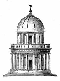 BRAMANTE Donato - Italian (Fermignano (Urbino) 1444 – 1514 Rome ) - Tempietto of San Pietro in Montorio, ca. 1505