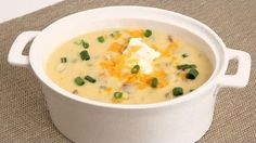 """""""Loaded Potato Soup Recipe"""" Laura in the Kitchen is an interactive cooking show starring Laura Vitale! In this episode, Laura will show you how to make Loaded Potato Soup. New recipes are posted all the time, so be sure to subscribe to her YouTube channel and check out all of her other recipes!"""