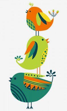 Madhubani Art, Madhubani Painting, Art Drawings For Kids, Bird Drawings, Scandinavian Folk Art, Indian Folk Art, Indian Art Paintings, Bird Illustration, Diy Canvas Art