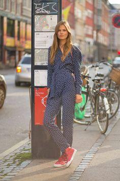 romper rules. Caro #offduty in Copenhagen. #CarolineBraschNielsen #streetstyle #fashion #model #blogger #ELLE #inspo