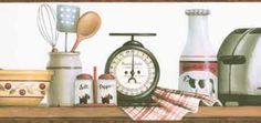 FFM10211B Beige French Chef Wallpaper Border - Wallpaper & Border | Wallpaper-inc.com