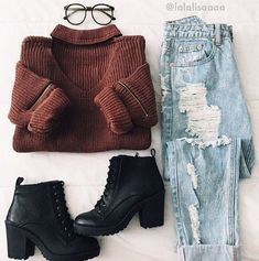 clothes for women,casual outfits,base layer clothing,casual outfits Mode Outfits, Grunge Outfits, Casual Outfits, Fashion Outfits, Jeans Fashion, Fashion Clothes, Casual Shoes, School Outfits, Fashion Shoes