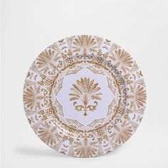 Plate Charger - Tableware - SALE | Zara Home United States  sc 1 st  Pinterest & GEOMETRIC MOTIF PLATE CHARGER - Dinnerware - Tableware | Zara Home ...