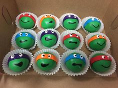 Ninja Turtle Cake Pops And Cake Balls Are A Perfect Party Favor. @flourshoptx
