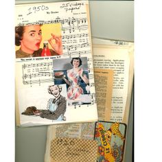 55  Vintage 1920 1950s book pages from 2 lively American decades for your scrapbook or art journal projects